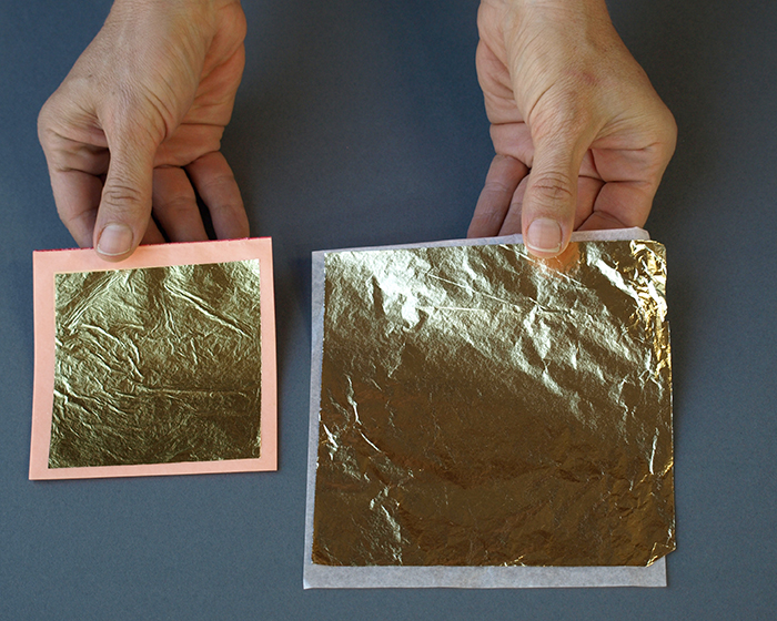 gold leaf compared to imitation gold leaf