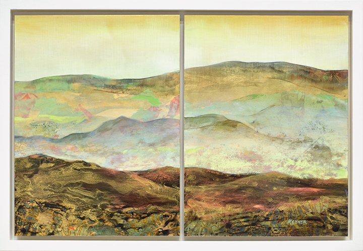 Nancy Reyner gold leaf painting